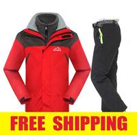 outdoor kids children boy girl fleece winter waterproof windproof hiking camping jacket +Pant ski suit coat outerwear sportswear