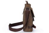 New arrival 2014 Shoulder Messenger Working Hiking Bag Men Vintage Canvas Leather Satchel for faster delivery