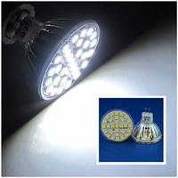 30 Pcs/lot Free Shipping MR16 LED 5W Nature White 29pcs 5050 SMD LED Spot Light Lamp Bulb AC220V LED0248