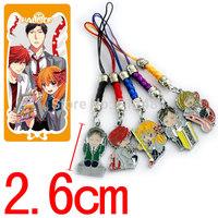 Anime Cartoon Gekkan Shoujo Nozaki-kun 50sets/lot Metal Figures Pendants Phone rope