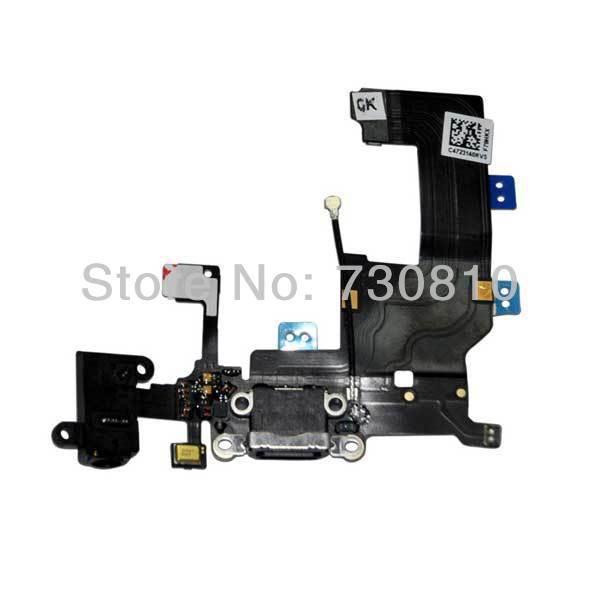 black Audio+Dock+Antenna+Mic flex set for iphone 5(China (Mainland))