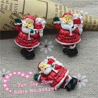 Father Christmas flat back Santa Claus resin cabochon crafts 20*28mm 50pcs/lot