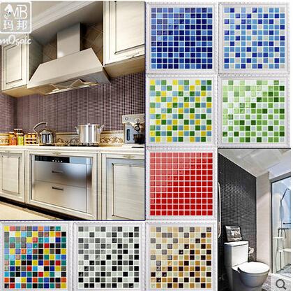 m telha de vidro cristal mosaico parede do fundo da tevê adesivos puzzle cerâmica pisos e azulejos(China (Mainland))