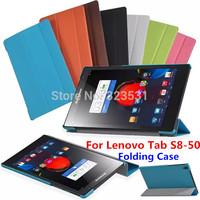 Free Shipping! Original Ultra Slim Super Grade 8.0'' LENOVO Tab S8-50 Folding Stand Cover Case.Hot Selling Case for Lenovo S8-50