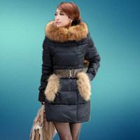 New 2015 jacket winter coat thicken Slim female raccoon fur collar and long coat women parka winter down coat