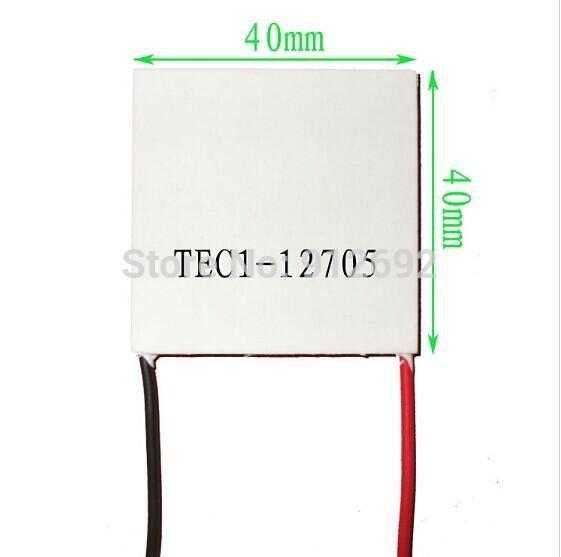 10pcs/lot tec1-12705 термоэлектрического охладителя Пельтье 12705