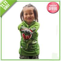 buy wholesale clothing 2014 kids hoodies 3~11age  novelty Crocodile cartoon long sleeve t shirts 5pcs/lot children clothing