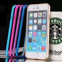 Ultra Thin Aluminum Metal Bumper Case Frame Cover For iPhone 6,For iPhone 6 4.7 inch 6 Plus 5.5 inch Aluminum Metal Bumper