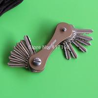 Keys Holder Folder Hard Oxide Aluminum Key Chain Clip Organizer Pocket EDC Tool, Key-Bar,Free Shipping