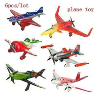 2014 New Sale 6Pcs/lot Dusty Crophopper 6cm-8cm PVC Figure Loose Pack Planes Toys Free Shipping