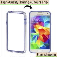 Transparent Plastic + TPU Frame Case For Samsung Galaxy S5 mini / G800 Free Shipping