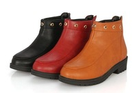 Martin boots women boots The new autumn boots round head low British paint with thick with the sleeve short boots boots