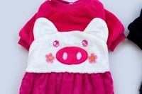 High Quality Fashion Dog Pet Clothes Dog Snowsuit Jumpsuit Warm Winter --Pink Or Black Pig