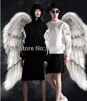 2015 fashion autumn winter angel wings sports hoodies Jumpsuit  sweatershirt hoody moleton masculino clothes for women men