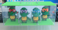 4pcs/lot 2014 Quality Teenage Mutant Ninja Turtles Action Figure 4 Hand-done TMNT Best Gifts Toy Model Children Education Toys