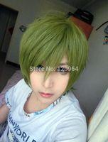 style 32cm short Kuroko no Basuke-Midorima Shintaro green cosplay wig  Natural Kanekalon no Lace Front hair wigs Free deliver