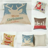 "1 Pc Christmas Pillow Case Sofa Car Decor Back Cushion Cover Xmas Square 16.54"""