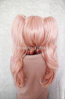 Anime Light Pink Danganronpa Dangan Ronpa Junko Enoshima Cosplay WigNatural Kanekalon no Lace Front hair wigs Free deliver