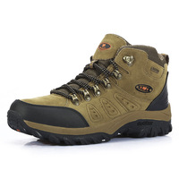 Original Brand Waterproof  Rubber Genuine Leather High-Top Lace-Up Outdoor Trekking Hunting Hiking Shoes Boots Men and Women
