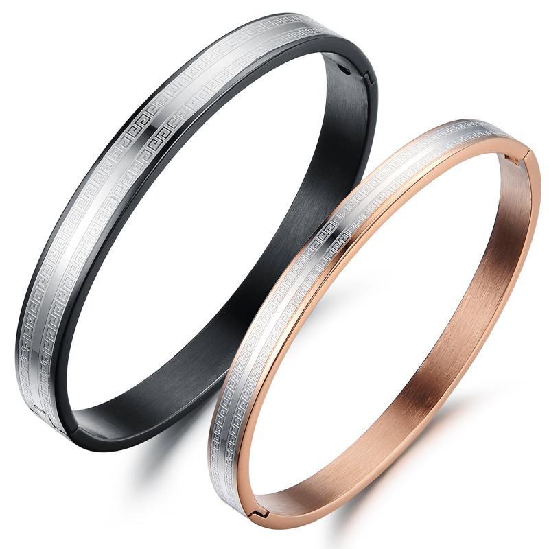 Lovers Titanium Stainless Steel Bangles Bracelets,Simple Fashion Women Man Bracelets bangles,Men Bangle Brazaletes,free shipping(China (Mainland))