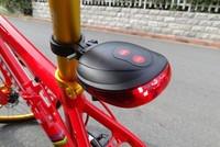 wolfbike Bicycle Laser Tail Light Waterproof 2 Lasers + 5 LED Mountain Bike Safety Back Rear warning Red Light Bike Flashlights