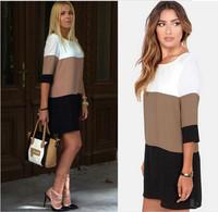 2014 New Fashion Women Dress Sexy Half Sleeve vestidos Plus Size Dresses S-XL