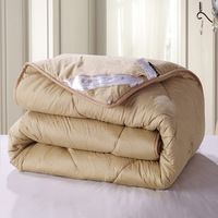 Winter Camelwool Comforter king queen double bed size Quilt camel hair Fiber Blanket Fast shipping