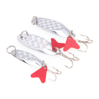 New 5cm/15g Fishing Spoon Lure Sequin Paillette Metal Hard Bait Hook Tackle Silver Size L/M/S