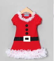 Selling new 2014 girls dress, lace, bowknot princess dress, Christmas dress with short sleeves,1-6 year wear free shipping