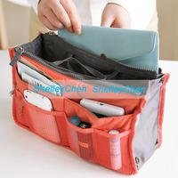 Women Bag in bag Double Zipper Portable Multifunctional Travel Pockets Handbag Storage Bag,Fadish Travel Cosmetic Bags