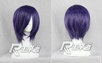 Kirishima Touka Anime Short purple Cosplay wig Natural Kanekalon no Lace Front hair wigs Free deliver