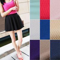 Womens Oversized Pleated TuTu Sun Wide Hem Half Dress Multi-color Pure Bottom Skirt Skirts Saias Femininas 2014#66780