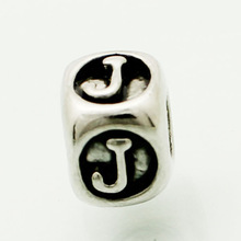 2014 Genuine beads Letter   j shaped pattern beads ,suitable for Pandora bracelets and fashion necklaces, fashion jewelry