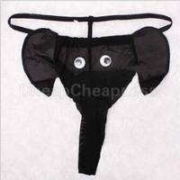 Brand New 2014 Sexy Animal Elephant Briefs For Men Red Black Leopard Men's Panties High Quality Men Underwear