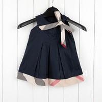 Hot Sale Retail Baby girl fashion dress kids plaid summer dresses girls Brand dress princess baby dress sleeveless Free Shipping