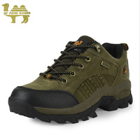 Good Quality Genuine leather Tourism Militari Men's Outdoor Breathable Waterproof Wicking Mesh Stitching Camping Hiking Sneakers