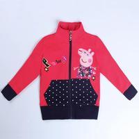 Girls Coat Children's Winter Outwear Girls Winter Coats kids Jacket Peppa Pig Baby Girl Clothing Lovely Hot Brand Nova