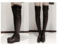 free hongkong post~j949 black thigh belt over knees high boots