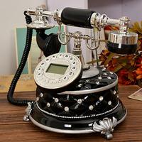 Free shippingEuropean fashion creative telephones antique telephones idyllic home landline phone black retro phone