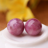 Wholesale 100/lot 6 8 10 12mm Pure Natural Plum Tourmaline Beads DIY Jewelry Fittings Semi-finished Stone Crystal Beads Material