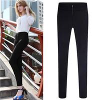 2014 Winter Korean Style Elegant Female Capris Cotton Women Pencil Pants Zippers Fashion Skinny Trousers QRP1020