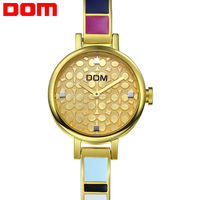 2014 Brand new Dom G-1019 fashion personality quartz watches women business casual wristwatch women full stainless steel watch