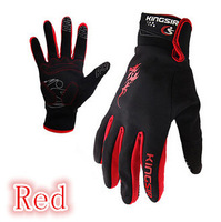 Professional KINGSIR Cycling Glove Bicycle Full Finger Winter  Keep Warm Gloves Can Touch Telephone Screen Directly