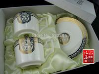 Western-style food tableware tableware samples room gift coffee cup Golden bone porcelain tableware suit