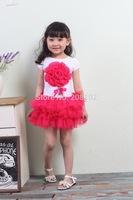 2T-6T Little Girls Summer Cotton Bubble TUTU Dress Large Flower Bandage Dress Kids Casual Daily Dresses Costume