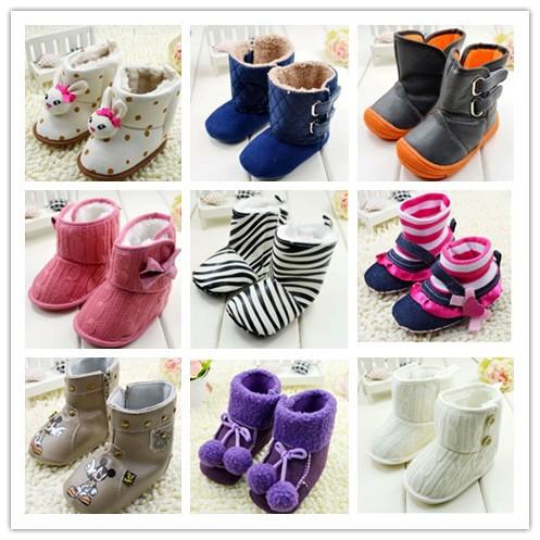 botinhas de bebé algodão grosso- acolchoado marca miúdos sapatos antiderrapante colorido hearts estilo encantador criança macios sapatos sapatas flexíveis(China (Mainland))