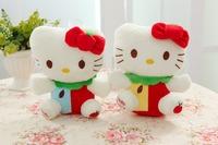 Free shipping hello kitty plush toy mini size 20cm fruit style kitty soft stuffed toy Christmas gift