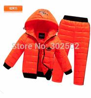 2014 New children clothing set winter kid clothing set suit child Sports baby clothing set warm down jacket+pants sets suits