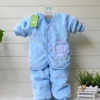 NewBorn Baby Girls Boys Soft Clothing Set Coral velvet Warm Winter Infant Clothings Baby New Born Snowsuit conjunto de roupa