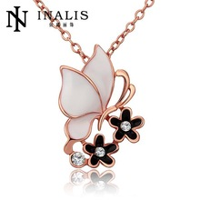 LJ Fashion Jewlery 2014 Three Years Quality Assurance Nice 18K Gold Plated Fashion Butterfly Elegant Necklace Free Shipping N696